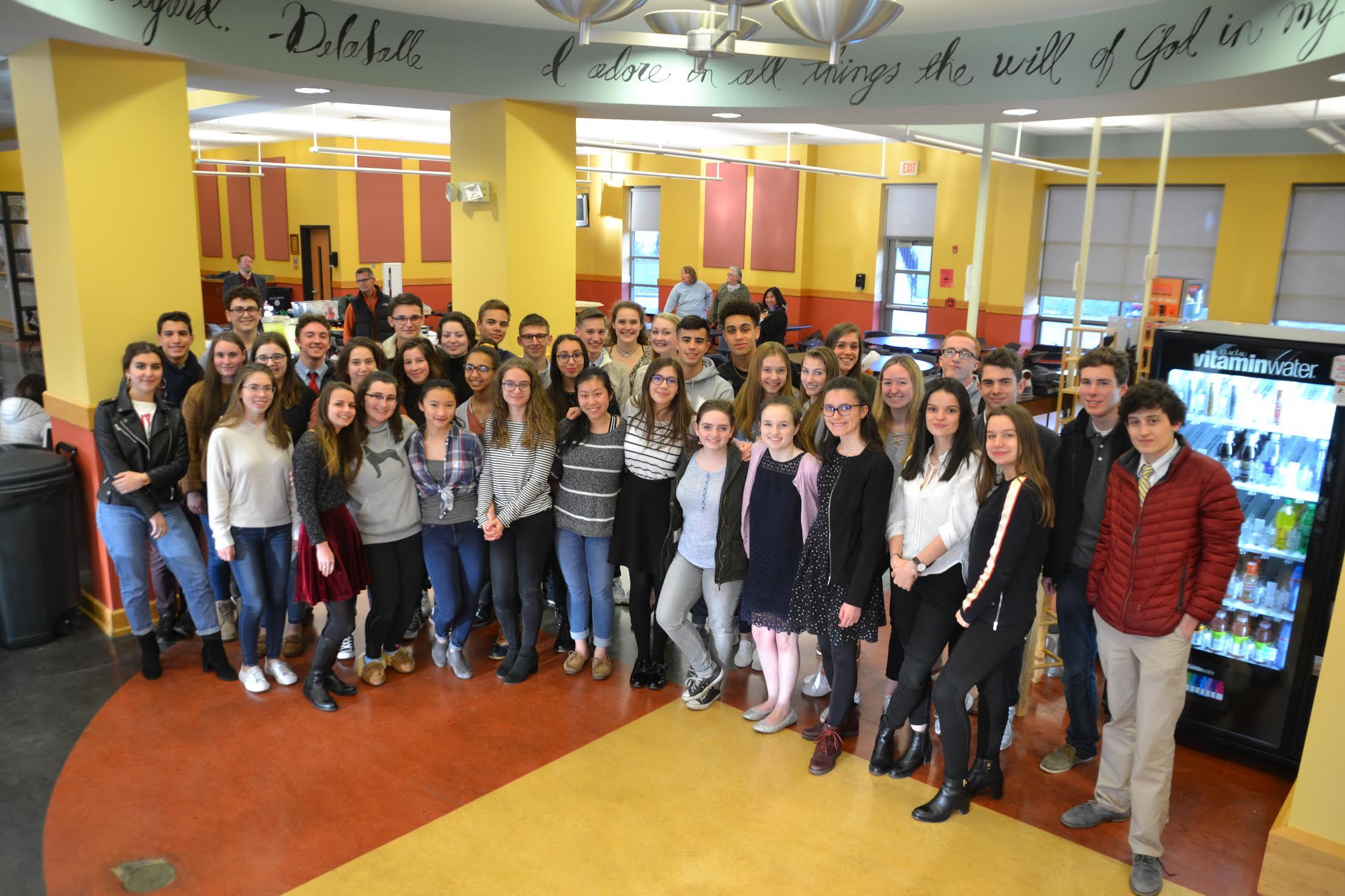 French Pen Pals visit La Salle - WLSA News | La Salle Academy's